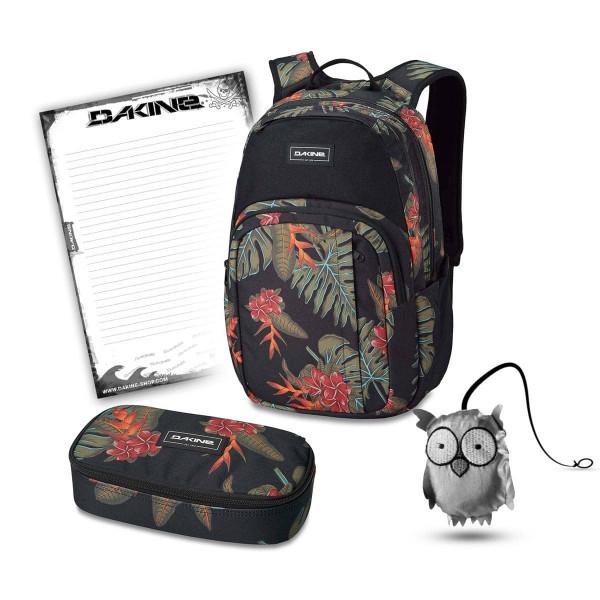 Dakine Campus M 25L + School Case XL + Emma + Block Schulset Jungle Palm