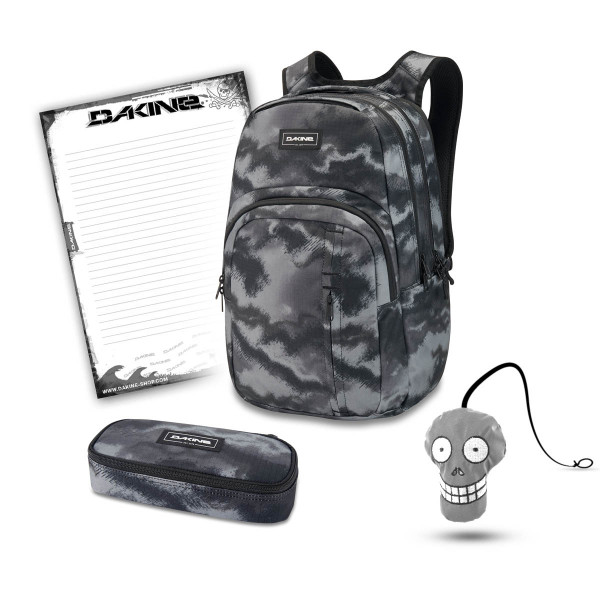 Dakine Campus Premium 28L + School Case + Harry + Block Schulset Dark Ashcroft Camo