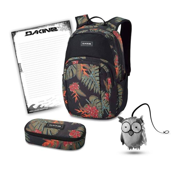 Dakine Campus M 25L + School Case + Emma + Block Schulset Jungle Palm