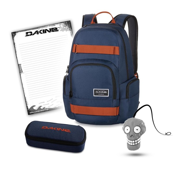 Dakine Atlas 25L + Accessory Case + Harry + Block Schulset Dark Navy