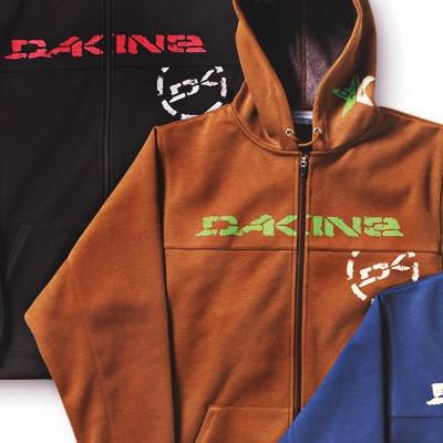 Dakine Wind Blocker Zip Hoodie Sweatshirt / Pullover Brown Größe S