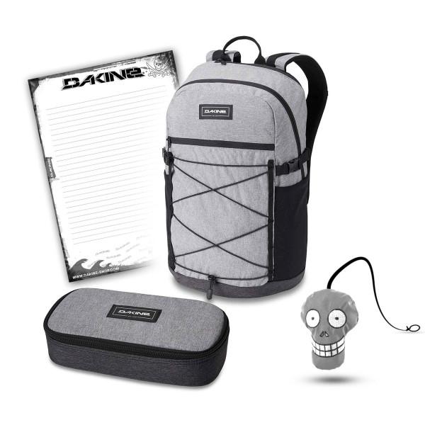 Dakine WNDR Pack 25L + School Case XL + Harry + Block Schulset Greyscale