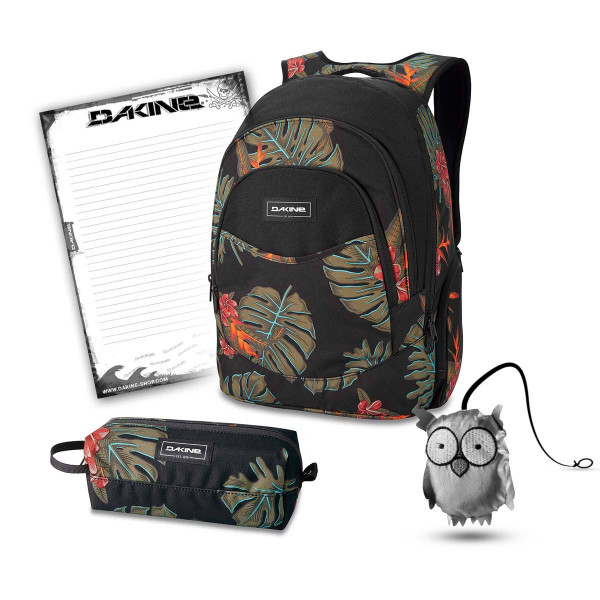 Dakine Prom 25L + Accessory Case + Emma + Block Schulset Jungle Palm