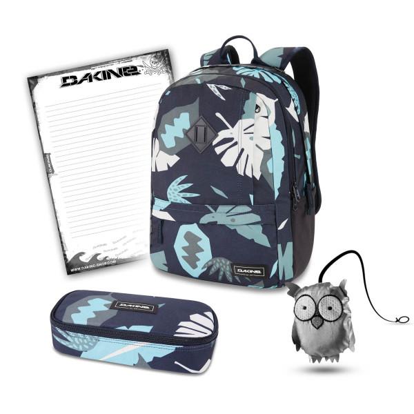 Dakine Essentials Pack 22L + School Case XL + Emma + Block Schulset Abstract Palm