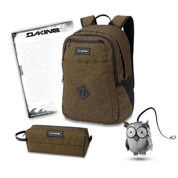 Dakine Essentials Pack 26L + Accessory Case + Emma + Block Schulset Dark Olive