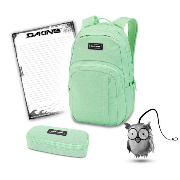 Dakine Campus M 25L + School Case + Emma + Block Schulset Dusty Mint