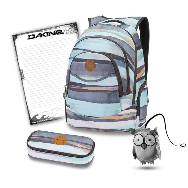 Dakine Prom 25L + School Case + Emma + Block Schulset Pastel Current