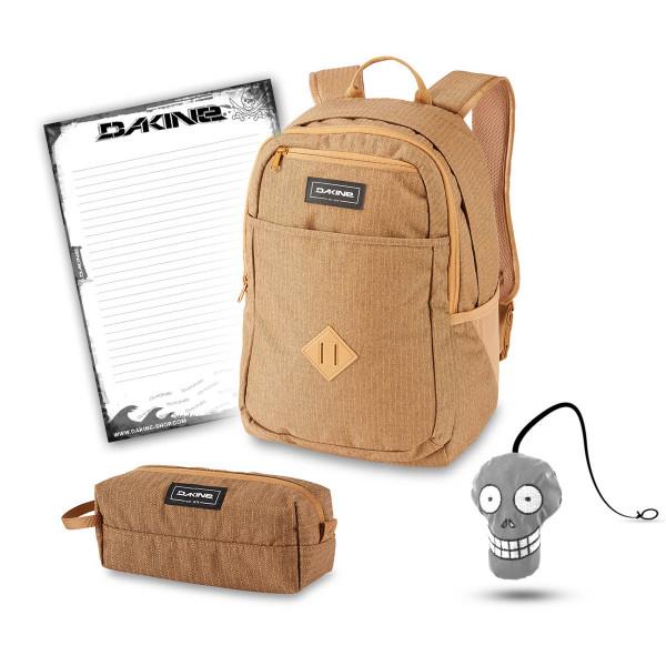 Dakine Essentials Pack 26L + Accessory Case + Harry + Block Schulset Caramel