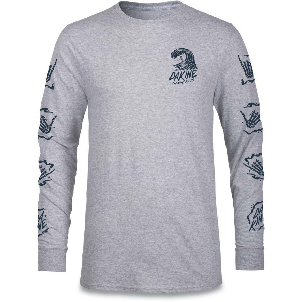 Dakine Bare Bones L/S Herren Longsleeve Grey Heather