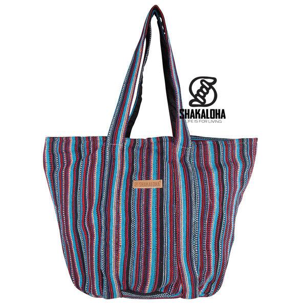 Shakaloha Heach Bag Blau-Rot gestreift