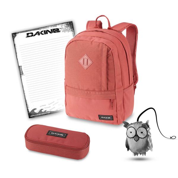 Dakine Essentials Pack 22L + School Case + Emma + Block Schulset Dark Rose