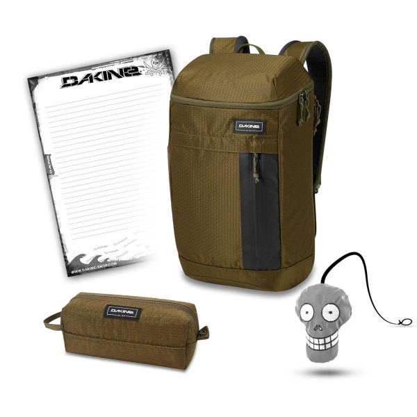 Dakine Concourse 25L + Accessory Case + Harry + Block Schulset Dark Olive Dobby