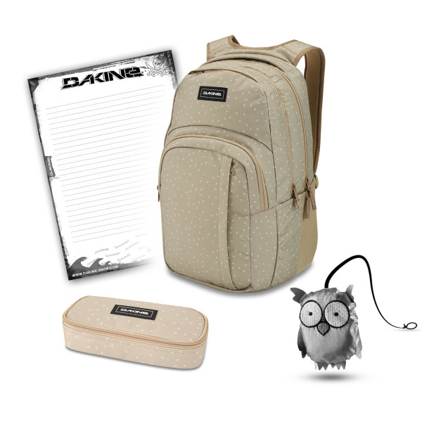 Dakine Campus L 33L + School Case + Emma + Block Schulset Mini Dash Barley