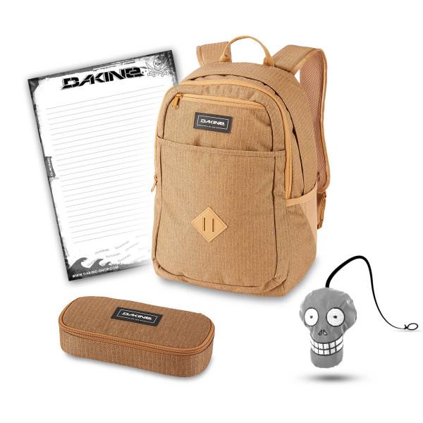 Dakine Essentials Pack 26L + School Case + Harry + Block Schulset Caramel