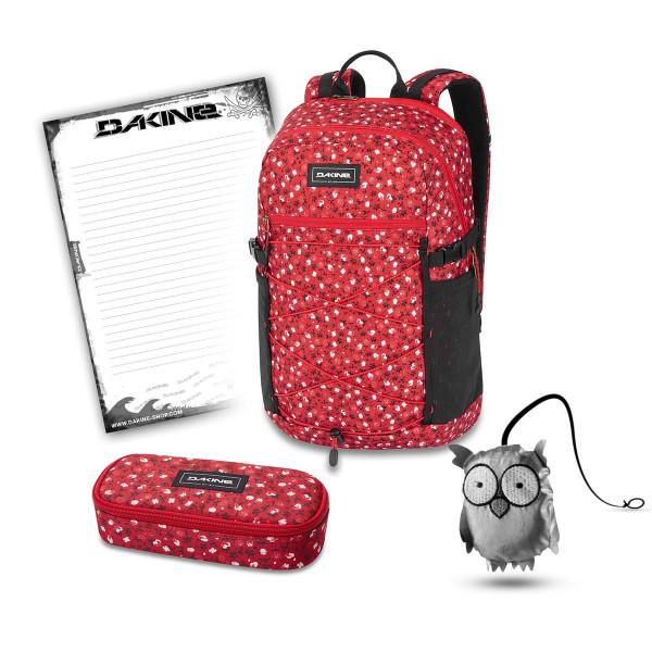 Dakine WNDR Pack 25L + School Case + Emma + Block Schulset Crimson Rose