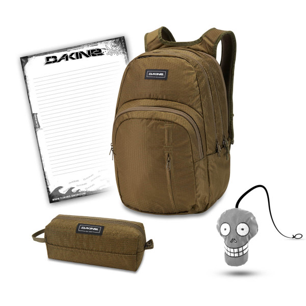 Dakine Campus Premium 28L + Accessory Case + Harry + Block Schulset Dark Olive Dobby