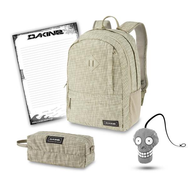 Dakine Essentials Pack 22L + Accessory Case + Harry + Block Schulset Gravity Grey
