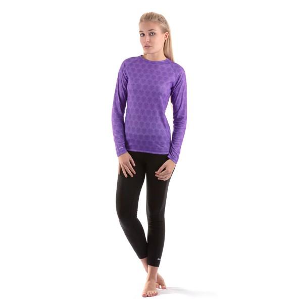 Dakine Womens Plume Crew Damen Funktionsshirt Lavender - Größe S