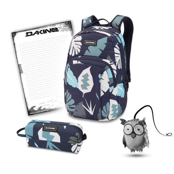 Dakine Campus M 25L + Accessory Case + Emma + Block Schulset Abstract Palm