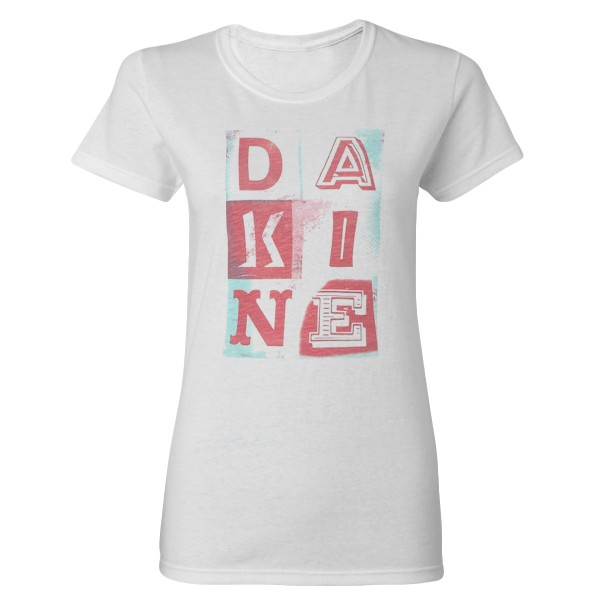 Dakine Womens Letter Icons T-Shirt Pink