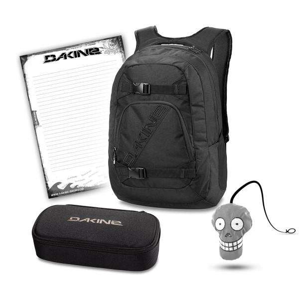 Dakine Explorer 26L + School Case XL + Harry + Block Schulset Black
