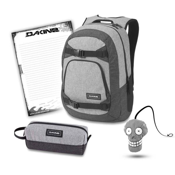 Dakine Explorer 26L + Accessory Case + Harry + Block Schulset Greyscale