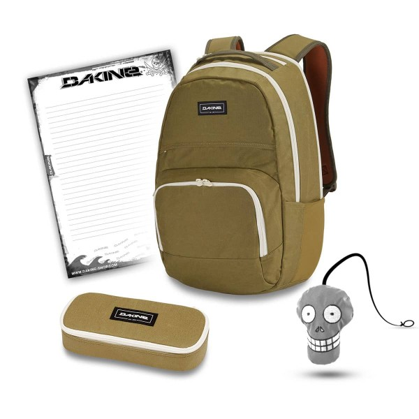 Dakine Campus DLX 33L + School Case + Harry + Block Schulset Pine Trees
