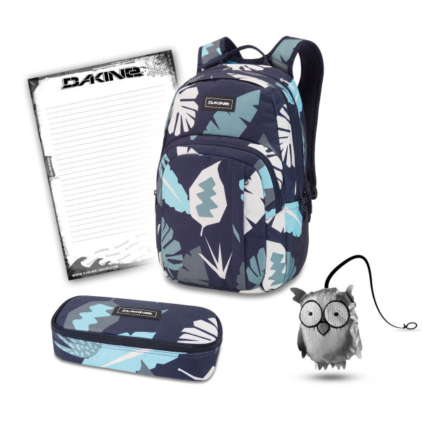 Dakine Campus M 25L + School Case XL + Emma + Block Schulset Abstract Palm