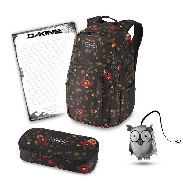 Dakine Campus M 25L + School Case XL + Emma + Block Schulset Begonia