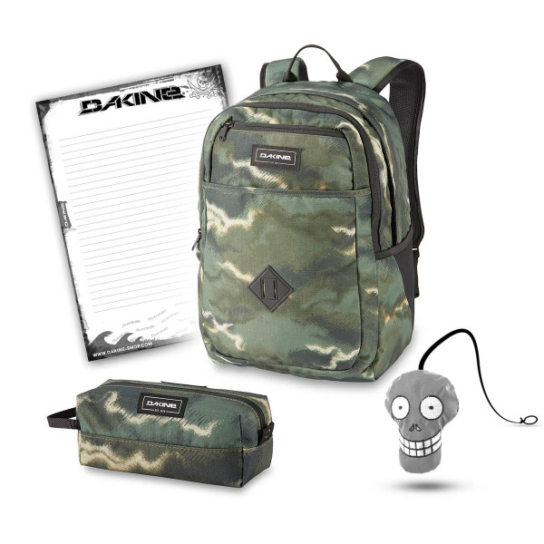 Dakine Essentials Pack 26L + Accessory Case + Harry + Block Schulset Olive Ashcroft Camo