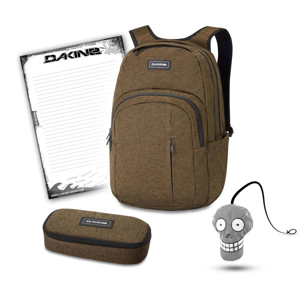 Dakine Campus Premium 28L + School Case + Harry + Block Schulset Dark Olive
