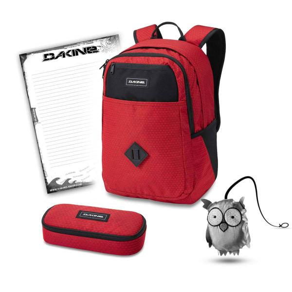 Dakine Essentials Pack 26L + School Case + Emma + Block Schulset Crimson Red
