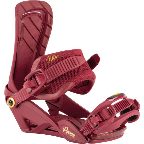 Nitro Poison Bdg 21 Snowboard Bindungen Royal Red