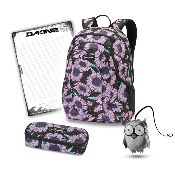 Dakine Garden 20L + School Case + Emma + Block Schulset Nightflower