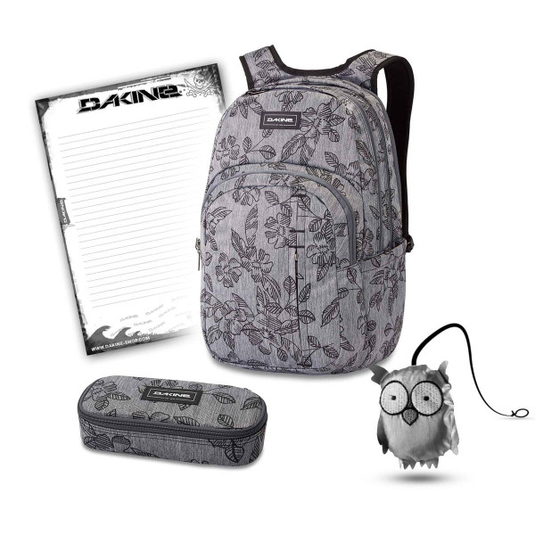 Dakine Campus Premium 28L + School Case + Emma + Block Schulset Azalea