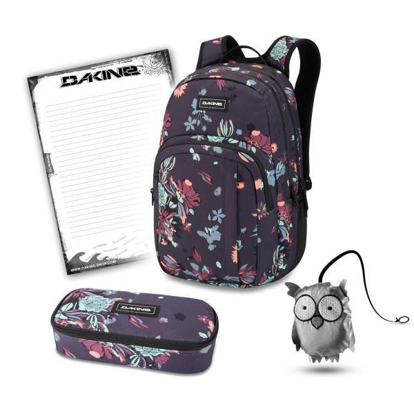 Dakine Campus M 25L + School Case XL + Emma + Block Schulset Perennial