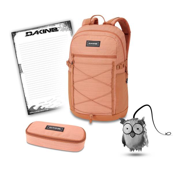 Dakine WNDR Pack 25L + School Case + Emma + Block Schulset Cantaloupe