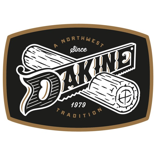 Dakine Northwest Tradition Aufkleber Black (9.5 x 7 cm)