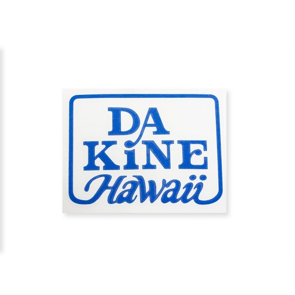 Dakine Hawaii Logo Plotted Aufkleber Blue Medium (11 x 9 cm)