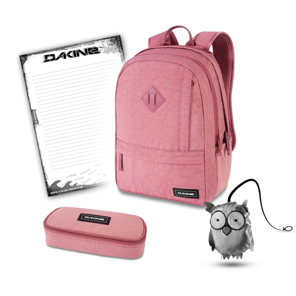 Dakine Essentials Pack 22L + School Case + Emma + Block Schulset Faded Grape