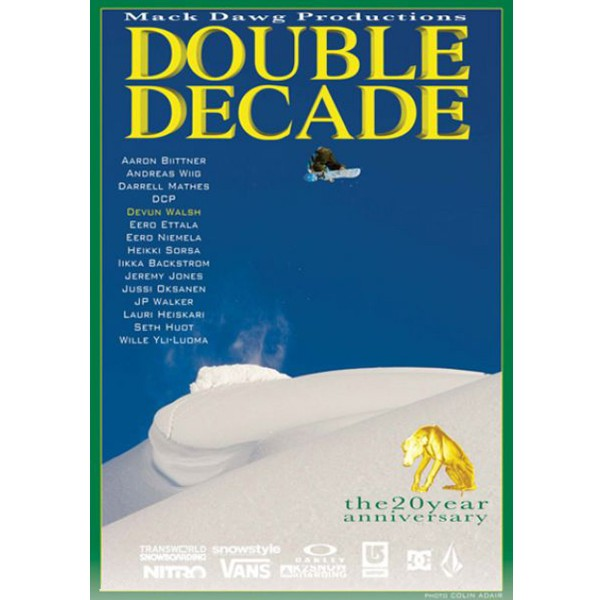 DOUBLE DECADE DVD Snowboard Video