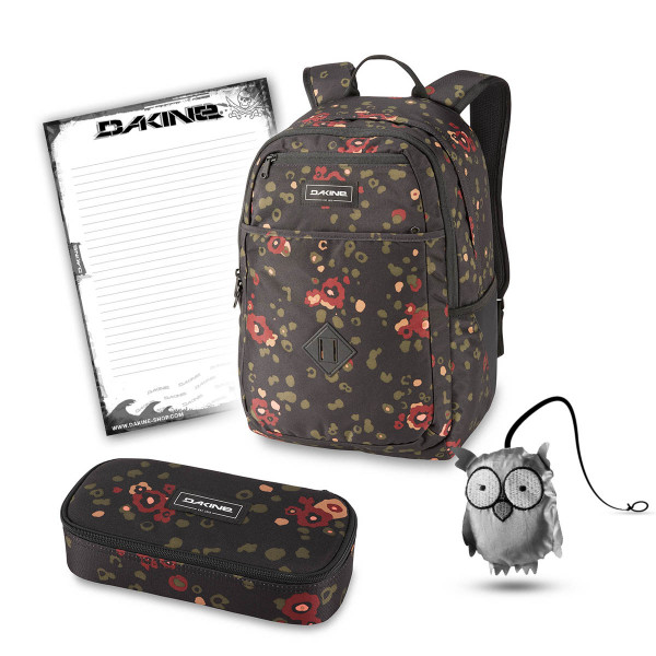 Dakine Essentials Pack 26L + School Case XL + Emma + Block Schulset Begonia