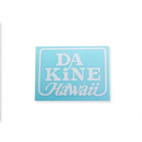 Dakine Hawaii Logo Plotted Aufkleber Blue / White Medium (11 x 9 cm)
