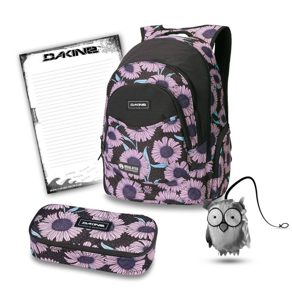 Dakine Prom 25L + School Case XL + Emma + Block Schulset Nightflower