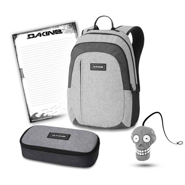 Dakine Factor 22L + School Case XL + Harry + Block Schulset Greyscale