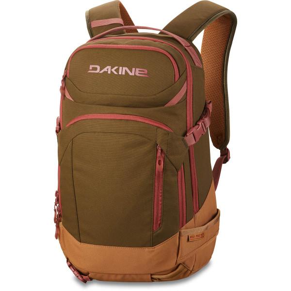 Dakine Womens Heli Pro 20L Ski- / Snowboard Rucksack Dark Olive / Caramel