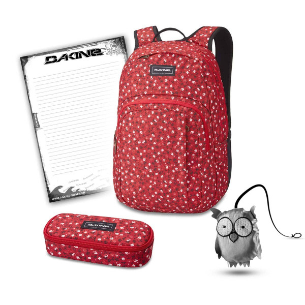 Dakine Campus M 25L + School Case + Emma + Block Schulset Crimson Rose