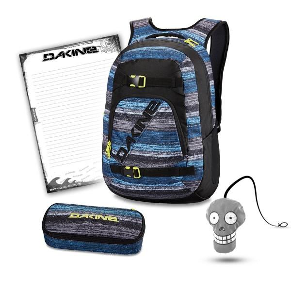 Dakine Explorer 26L + School Case + Harry + Block Schulset Distortion