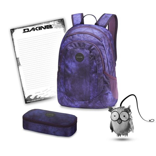 Dakine Garden 20L + School Case XL + Emma + Block Schulset Purple Haze