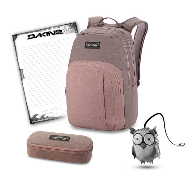 Dakine Campus M 25L + School Case + Emma + Block Schulset Sparrow